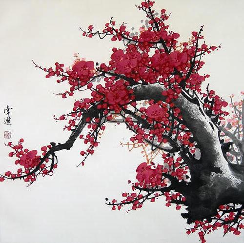 Китай, китай, цветы, живопись