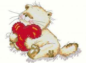 Схема вышивки крестом валентинок 131