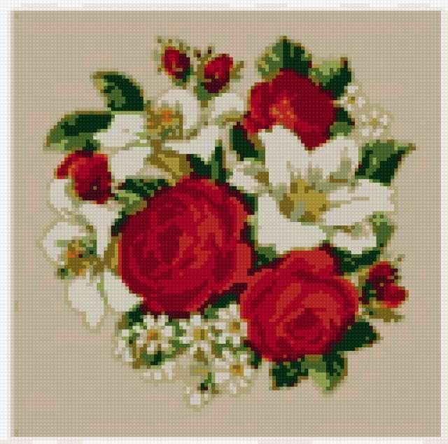 лилии и розы