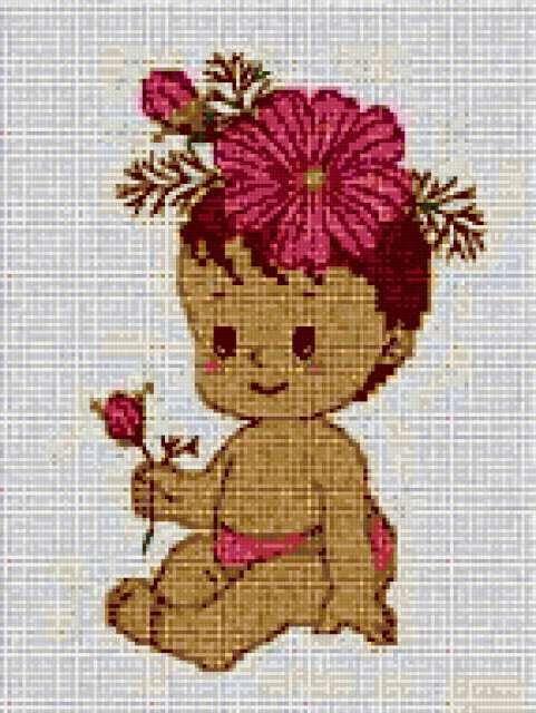 Малышка в розовом