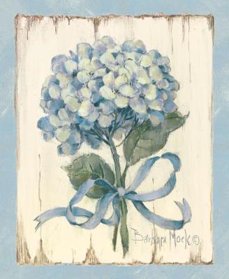 Голубая гортензия, цветы