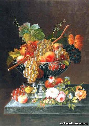 Дары осени, натюрморт, фрукты,