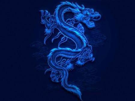 Синий дракон, китай, дракон,