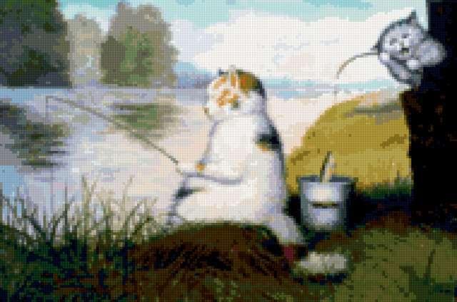 Коты на рыбалке, предпросмотр