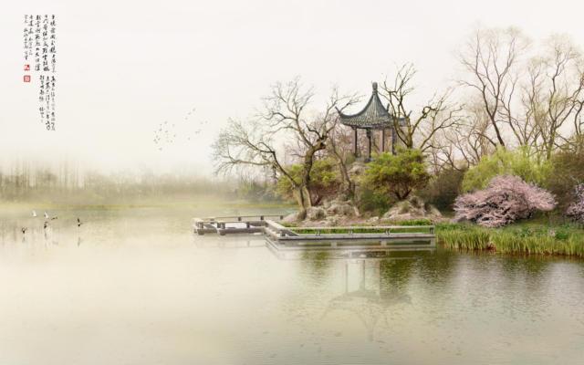 Китайский сюжет, пейзаж, китай