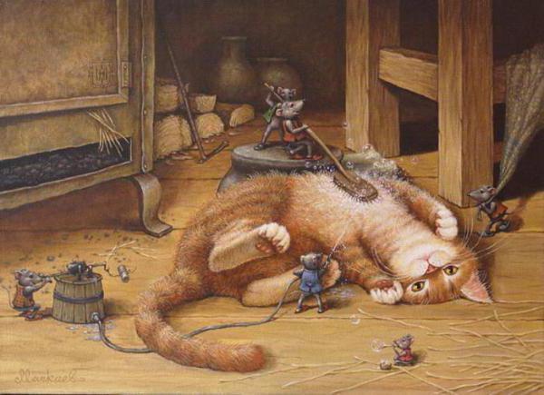 Кот и мыши, оригинал