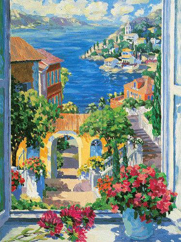 Вид на море из окна, оригинал