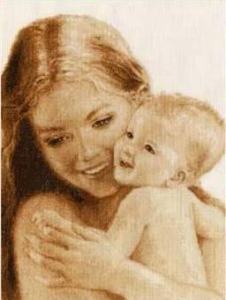 Мать и дитя схема вышивки фото 812