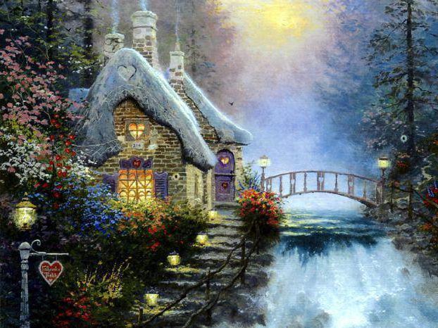 Сказочный домик, живопись