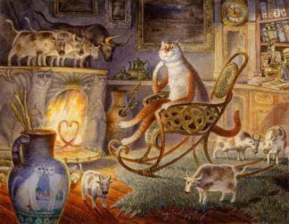 Кот у камина, оригинал