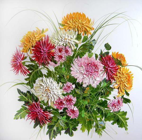 Подушка букет цветов, оригинал