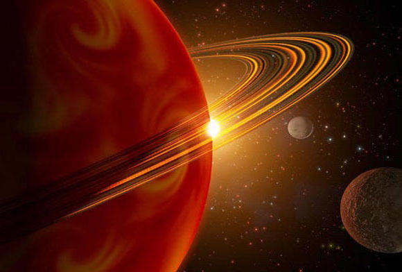 Сатурн, космос, планеты