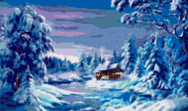 Зимний пейзаж, зима, зимний