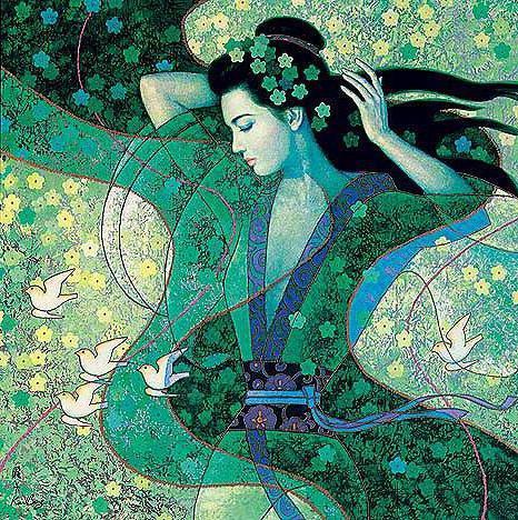 Японка, картина, японка