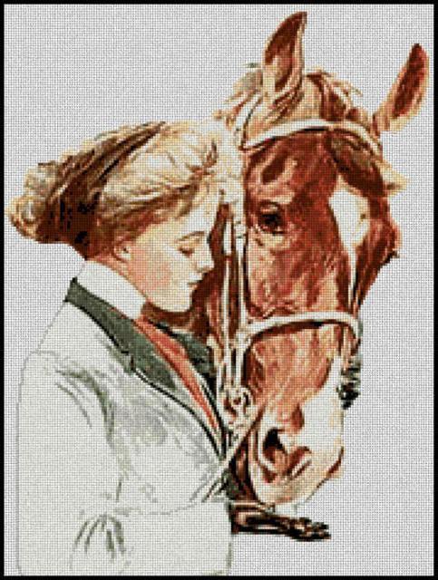 Девушка с лошадью, девушки,