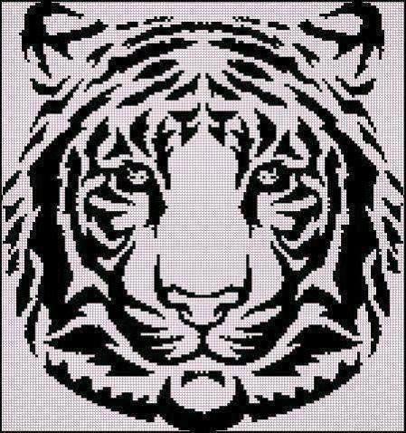 схему вышивки «Тигр 2