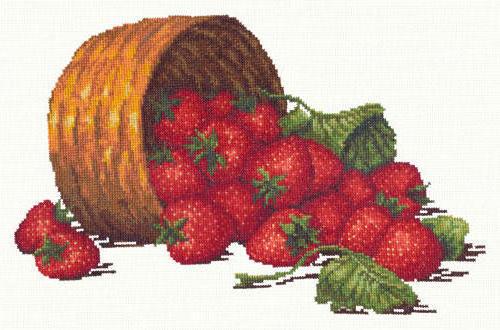 Лукошко земляники, ягоды