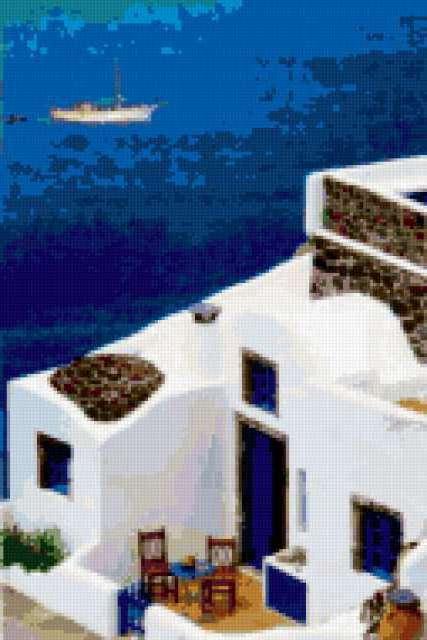 Вид на море Сантирин(тира,