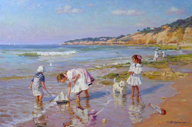 Дети на пляже, оригинал