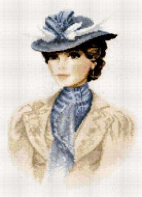 Женщина в шляпе, предпросмотр