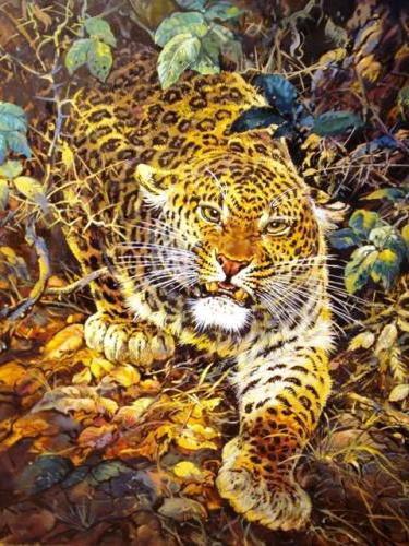 Ягуар на охоте, оригинал