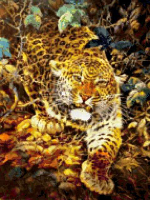 Ягуар на охоте, предпросмотр