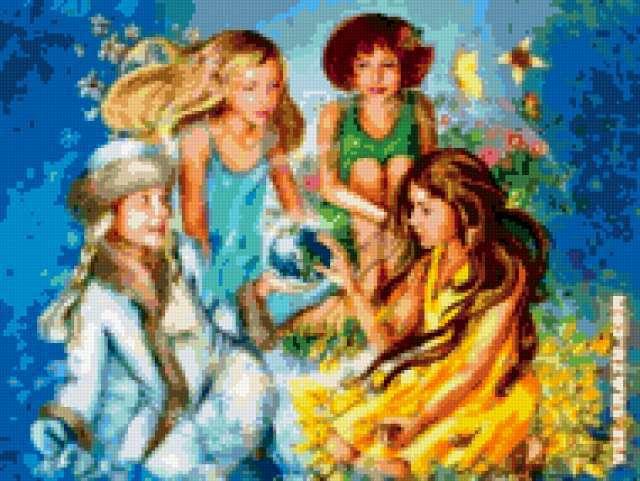 Картинки про лето зиму осень и весну