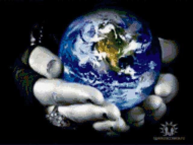 руки, планета, земля