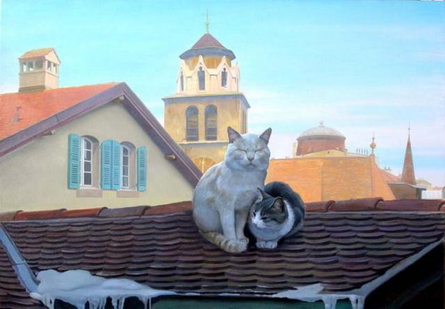 Коты на крыше, оригинал
