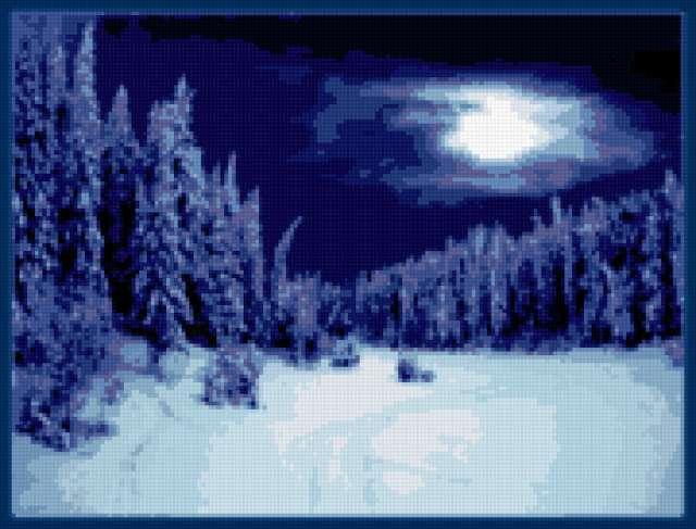 Зимний лес, предпросмотр