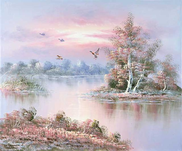 Утки, утки, пейзаж