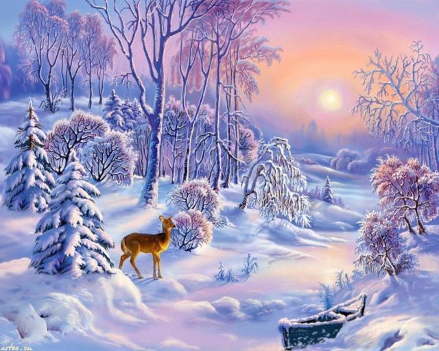 Зимняя сказка, зима, пейзаж,