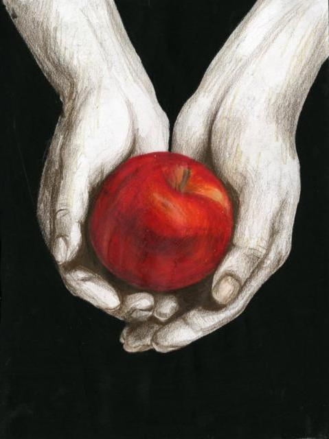 схему вышивки «Яблоко в