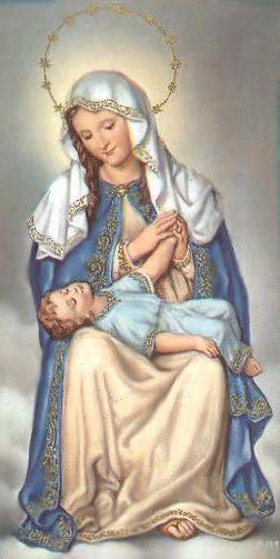 Схема вышивки «Дева Мария и