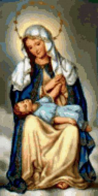 Дева Мария и Иисус,