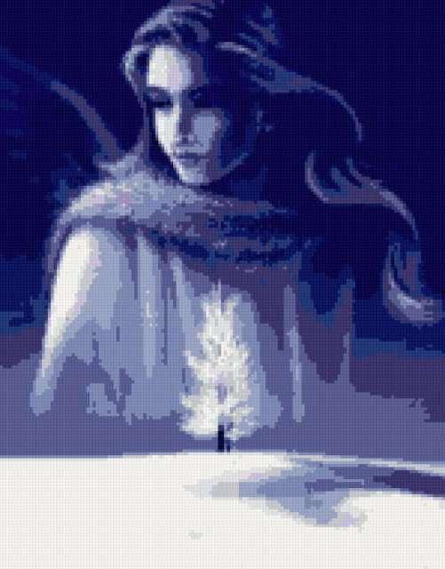 Девушка- зима, предпросмотр