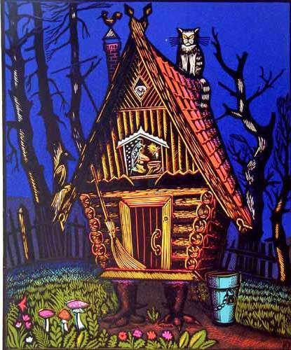 Дом бабы-Яги, сказка, домик,