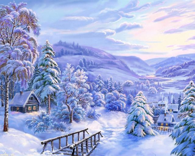 Зима, природа, зима, снег,