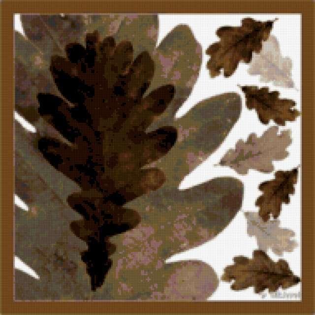 Листья дуба, предпросмотр