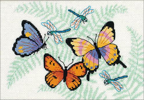 Бабочки и стрекозы, оригинал