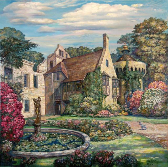 Старый замок в Англии,