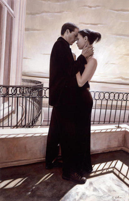 Нежный поцелуй, картина
