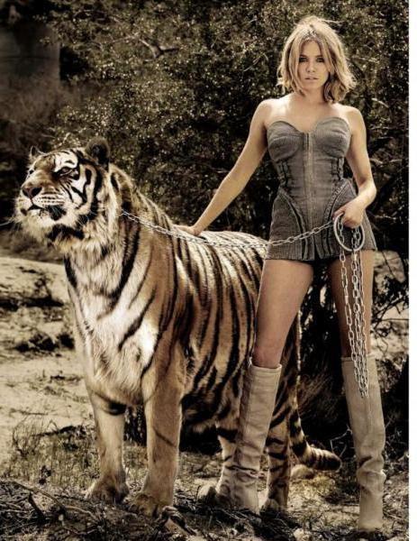 Девушка с тигром, оригинал