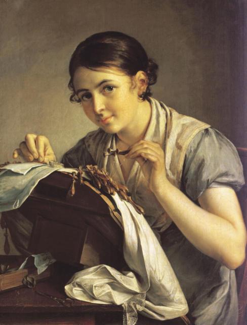 Рукодельница, Картина