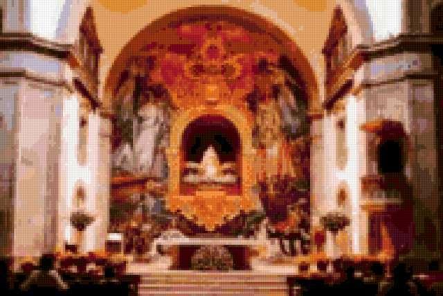 Внутри церкви, религия