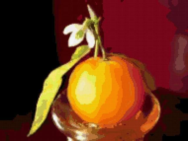 Натюрморт апельсин