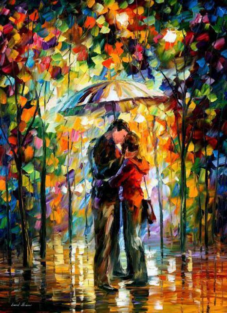 Двое под дождем, дождь