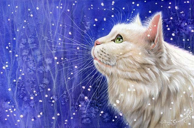Белый кот,белый снег, оригинал