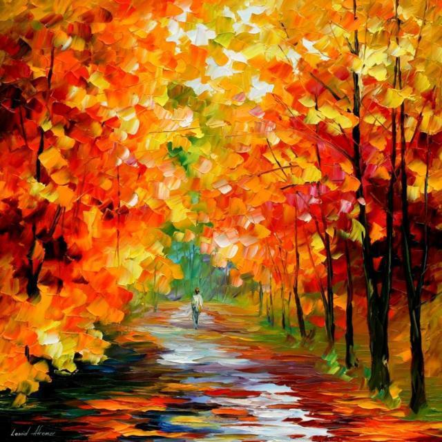 осень, пейзаж, парк,