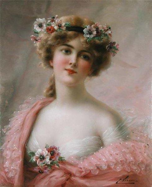 портрет девушка в венке,